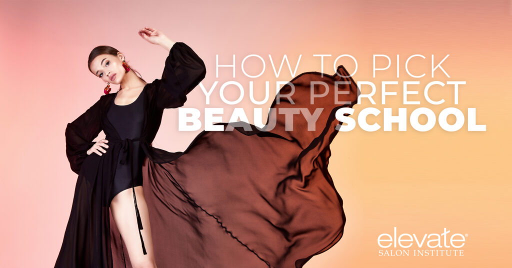 How to pick your perfect beauty school graphic